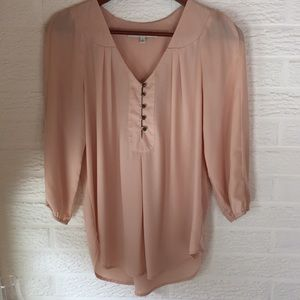 Peach tunic blouse